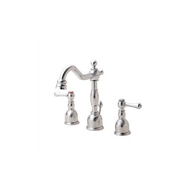 Opulence Widespread Double Handle Bathroom Faucet with Drain Assembly