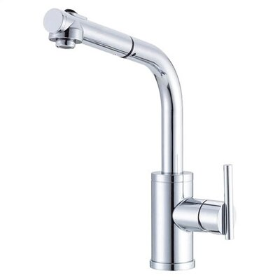 Parma Single Handle Deck Mount Kitchen Faucet Finish: Chrome, Side Spray: Without Side Spray