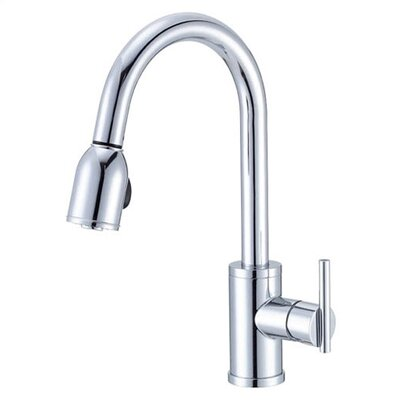 Parma Pull Down Single Handle Kitchen Faucet Finish: Chrome