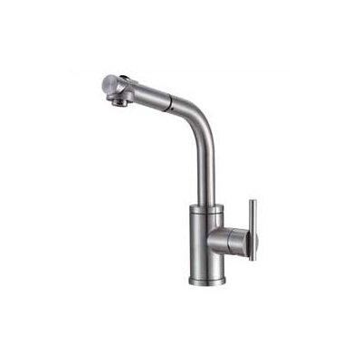Parma Pull Out Single Handle Kitchen Faucet Finish: Stainless Steel, Side Spray: Without Side Spray