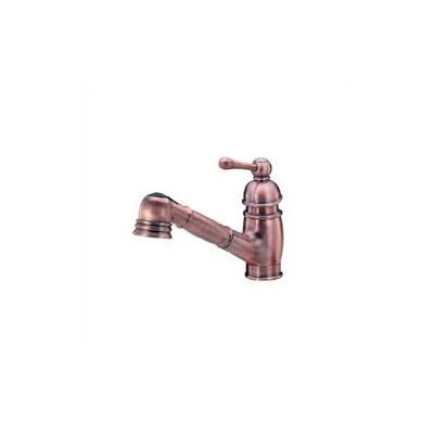 Opulence Single Handle Deck Mount Kitchen Faucet Finish: Antique Copper