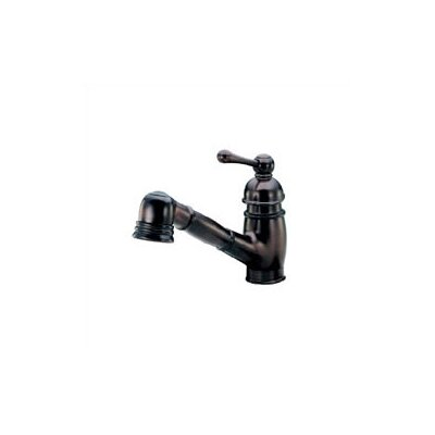 Opulence Single Handle Deck Mount Kitchen Faucet Finish: Satin Black
