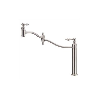 Fairmont Deck Mount One Handle Single Hole Pot Filler Faucet Finish: Distressed Nickel