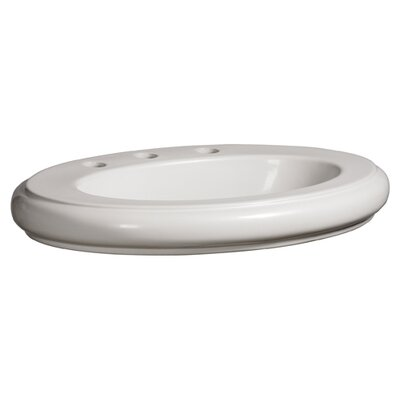 Orrington Oval Vessel Bathroom Sink with Overflow Sink Finish: White