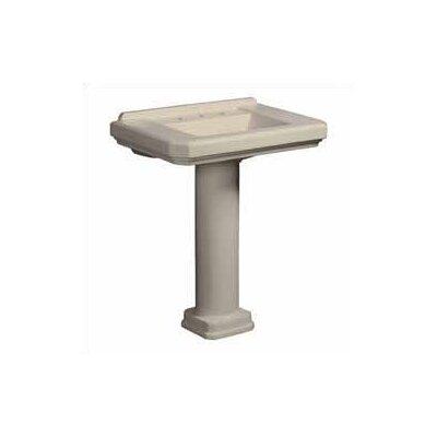 Cirtangular 30 Bathroom Sink Pedestal  Finish: Biscuit