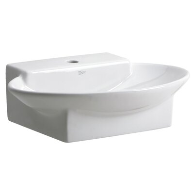 Ziga Zaga Deck Ceramic Oval Vessel Bathroom Sink