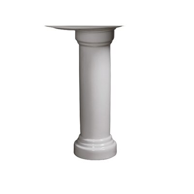 Orrington Column 30 Pedestal Bathroom Sink Sink Finish: White