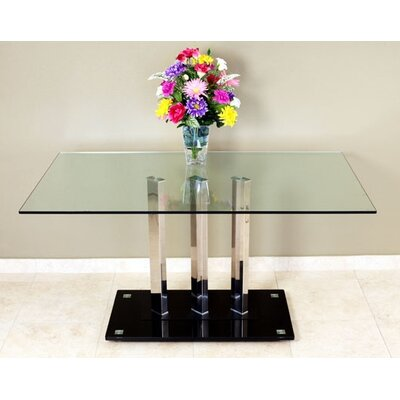 Dining Table Top Finish: Clear Glass