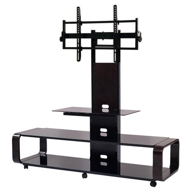 Stemple 60 TV Stand Color: Espresso/Black