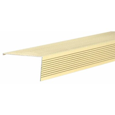 1.5 x 2.75 x 36 Stair Nose in Brite Dip Gold