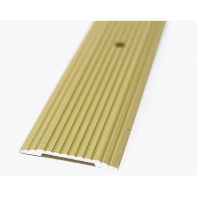 Furniture-0.13 H x 2.13 W x 36 D Fluted Seam Binder Threshold Satin Brass