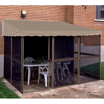 Gazebo Penguin Add-A-Room 15 Ft. W x 7.5 Ft. D Aluminum Gazebo - Structure Color: Sand, Roof Color: Taupe