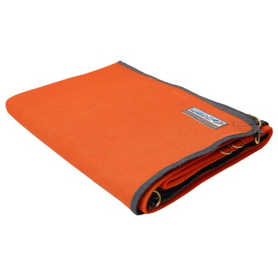 Amanda Orange Outdoor Area Rug Rug Size: Square 10