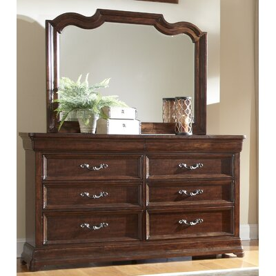 Signature 6 Drawer Double Dresser with Mirror