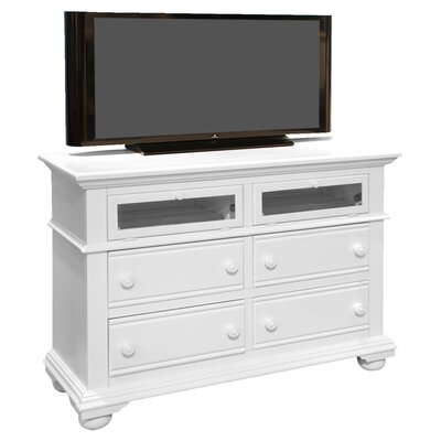 Colgett 4 Drawer Media Dresser Color: Distressed Eggshell White