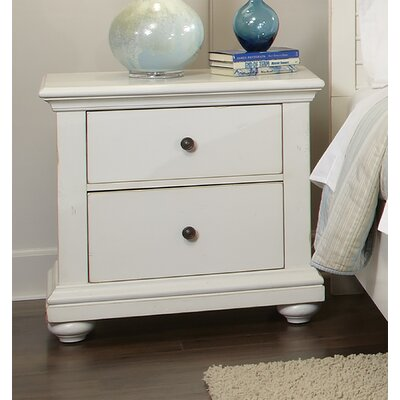 Galsworthy 2 Drawer Nightstand Color: Antique White