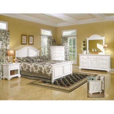 Montcerf Twin Panel Wood Customizable Bedroom Set