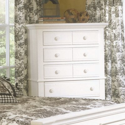 Colgett 5 Drawer Chest Color: Distressed Eggshell White