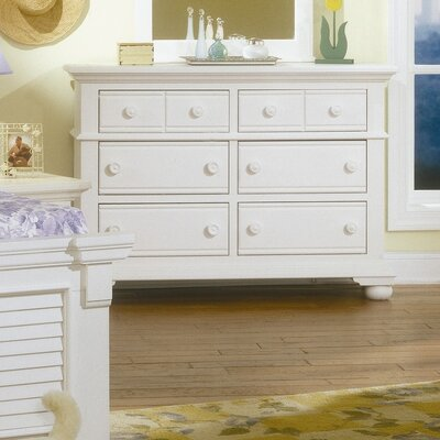 Colgett Double 6 Drawer Dresser Color: Eggshell White