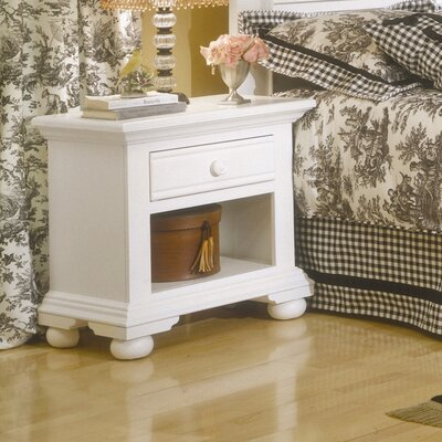 Colgett 1 Drawer Nightstand Finish: Distressed Eggshell White