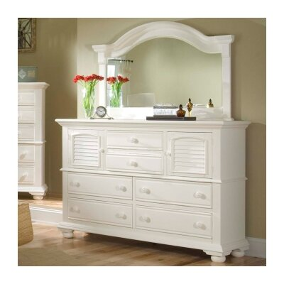 Cottage Traditions 6 Drawer Combo Dresser Finish: Distressed Eggshell White
