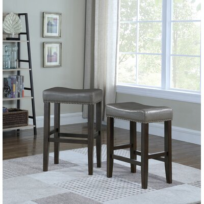 Wadsworth 24 Bar Stool Upholstery: Gray