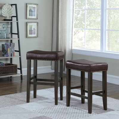 Wadsworth 29 Bar Stool Upholstery: Brown