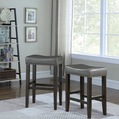 Wadsworth 29 Bar Stool Upholstery: Gray