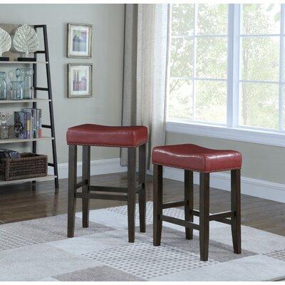 Wadsworth 29 Bar Stool Upholstery: Crimson