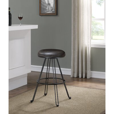 Mandie Backless Swivel Round Bar Stool