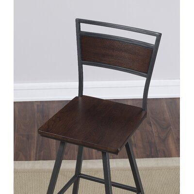 Kimiko Swivel Square Bar Stool