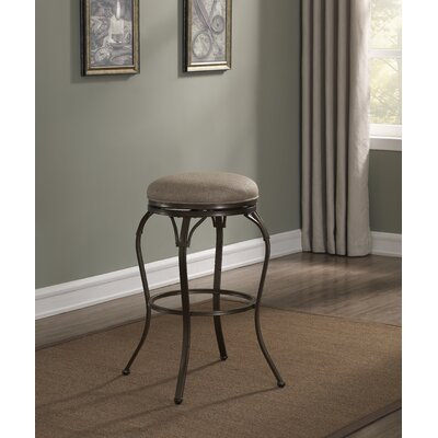 Metropolis Backless Swivel Round Bar Stool