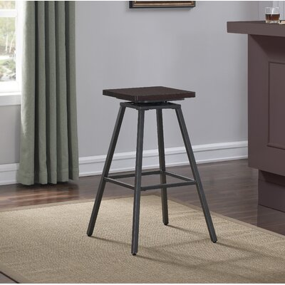 Dierdre Swivel Square Bar Stool