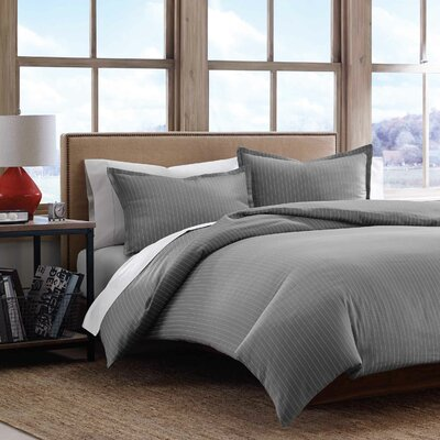 Pinstripe 3 Piece Duvet Set Size: Full/Queen