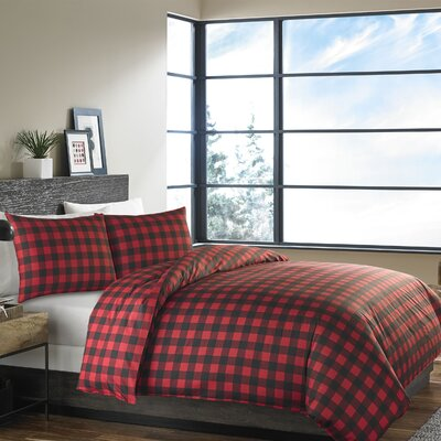 Mountain Plaid 3 Piece Reversible Comforter Set Size: Full Queen