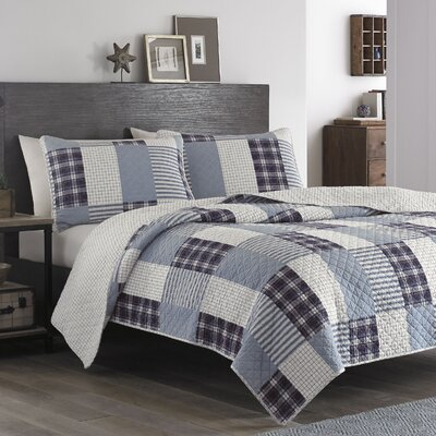 Camano Island Reversible Quilt Set Size: King