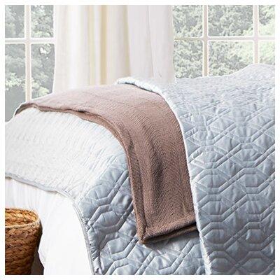 Herringbone Throw Blanket Size: King, Color: Mushroom