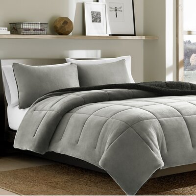 Premium Fleece 2 Piece Twin Comforter Set