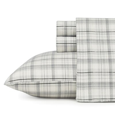 Beacon Hill 100% Cotton Flannel Sheet Set Size: Queen