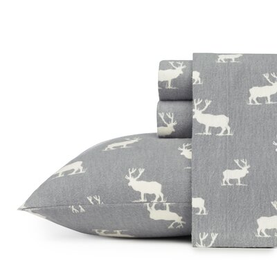 Elk Grove 100% Cotton Flannel Sheet Set Size: Queen