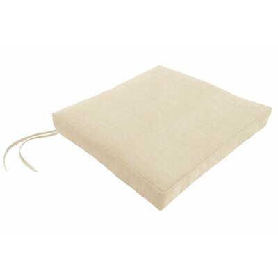 Sunbrella Dining Chair Cushion Fabric: Canvas Flax