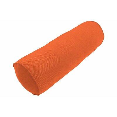 Sunbrella Single Piped Bolster Pillow Color: Spectrum Cayenne