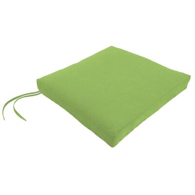 Sunbrella Dining Chair Cushion Fabric: Canvas Ginkgo