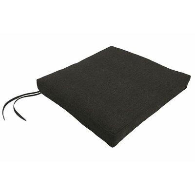 Sunbrella Dining Chair Cushion Fabric: Spectrum Carbon