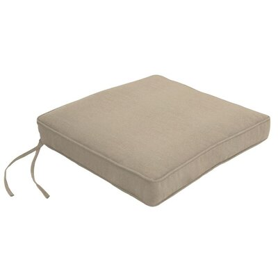 Outdoor Sunbrella Dining Chair Cushion Fabric: Canvas Taupe