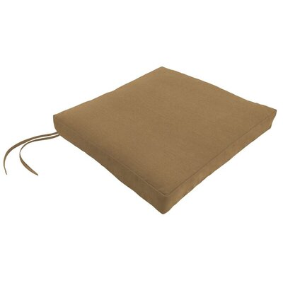 Sunbrella Dining Chair Cushion Fabric: Spectrum Caribou