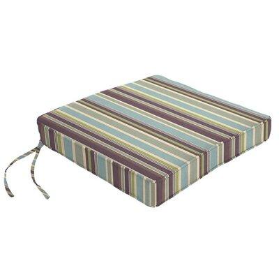 Outdoor Sunbrella Dining Chair Cushion Fabric: Brannon Whisper