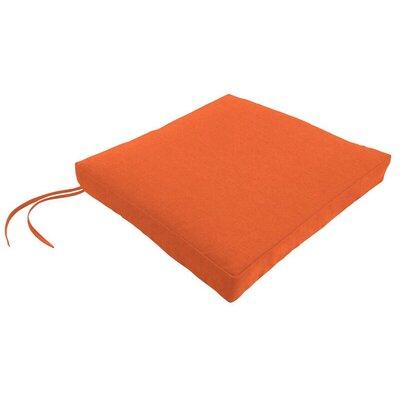 Sunbrella Dining Chair Cushion Fabric: Spectrum Cayenne