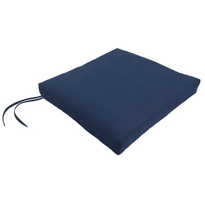 Sunbrella Dining Chair Cushion Fabric: Canvas Navy