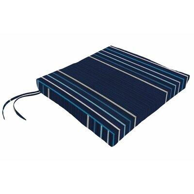 Sunbrella Dining Chair Cushion Fabric: Viento Nautical